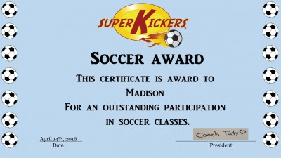 Super Kickers award